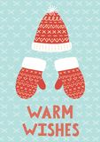 Warm Wishes Christmas greeting card Royalty Free Stock Photos