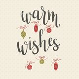 `Warm wishes` hand lettering Royalty Free Stock Photography
