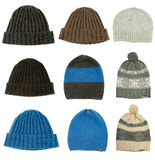 Warm woman winter hats Stock Image