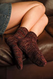 Warm womens socks Stock Photos