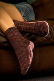 Warm womens socks Stock Images