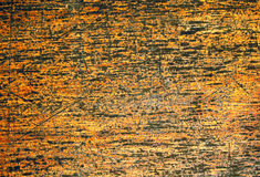 Warm wood texture with weathered surface. Warm brown wooden background for vintage banner. Stock Image