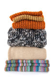 Warm wool clothing Stock Photo