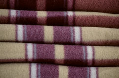 Warm woolen blanket. By the closeup Royalty Free Stock Photography