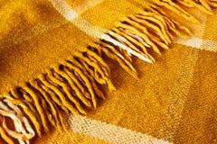 Warm woolen blanket Royalty Free Stock Photos