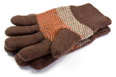Warm  woolen knitted gloves Royalty Free Stock Photo