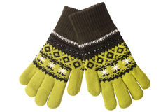 Warm woolen knitted gloves Royalty Free Stock Images