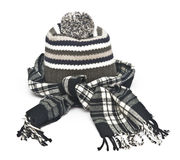 Warm woolen knitted winter hat Royalty Free Stock Photos