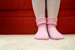 Warm woolen socks Stock Photo