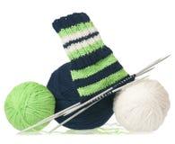 Warm woolen threads Royalty Free Stock Image