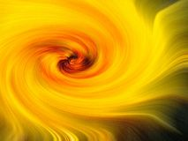Warm yellow and orange swirl royalty free illustration