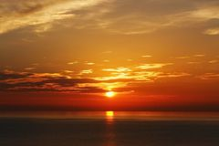 Warm Yellow Sunset Royalty Free Stock Photography