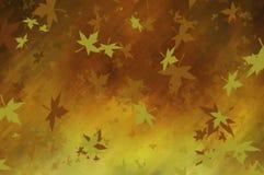 Warme achtergrond met bladeren Royalty-vrije Stock Afbeelding