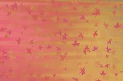 Warme achtergrond met bladeren Royalty-vrije Stock Foto
