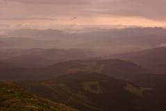 Warme bergen royalty-vrije stock foto's