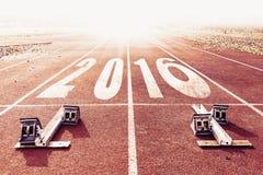Warme Blickzahlen des neuen Jahres 2016 gemalt Lizenzfreies Stockfoto