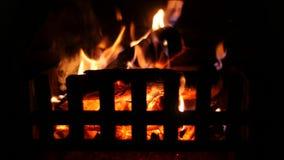 Warme Comfortabele Open haard stock videobeelden