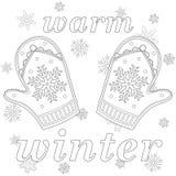 Warme de winter zwart-witte affiche Royalty-vrije Stock Afbeelding
