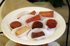 Warme gebraden snacks royalty-vrije stock foto's