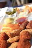 Warme gebraden snacks Stock Fotografie