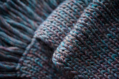 Warme gebreide sjaal Royalty-vrije Stock Foto's