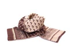 Warme gebreide sjaal. Stock Afbeeldingen