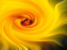 Warme gele en oranje werveling royalty-vrije illustratie