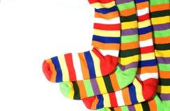 Warme gestreepte sokken Royalty-vrije Stock Afbeelding