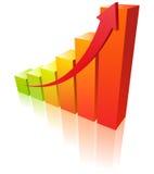 Warme grafiek Stock Foto