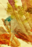 Warme grunge watercolour royalty-vrije illustratie