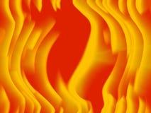 Warme het gloeien oranje en gele beweging stock illustratie