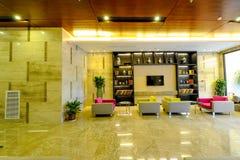 Warme Hotellobby Stockbild