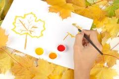 Warme kleuren van de herfst Stock Foto