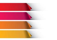 Warme Kleurenstrepen onder Wit Abstract Vectorontwerp Als achtergrond Stock Fotografie