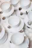 Warme kop thee met snoepjes en suikergoed royalty-vrije stock foto