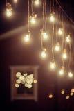 Warme Lichterkette Stockfoto
