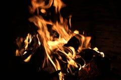 Warme open haard Stock Foto's