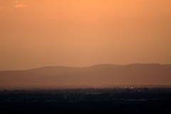Warme oranje hemel Stock Foto's