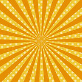 Warme oranje pop-art retro grappige rooster als achtergrond Royalty-vrije Stock Afbeelding