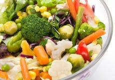 Warme plantaardige salade Stock Foto