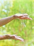 Warme regen Stock Foto