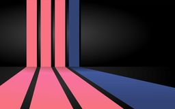 Warme roze strepenachtergrond Vector Illustratie