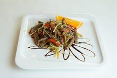 Warme salade met rundvlees Royalty-vrije Stock Afbeelding