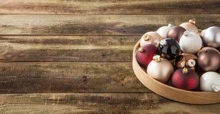 Warme seizoengebonden vakantie en traditionele December-viering, exemplaarruimte Royalty-vrije Stock Foto