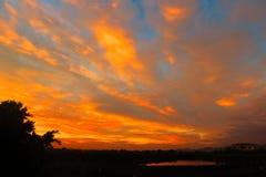 Warme Sonnenaufgangwolken stockbilder