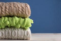 Warme sweaters Royalty-vrije Stock Fotografie