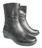 Warme vrouwelijke laarzen. Stock Afbeeldingen