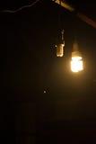 Warme weiße Lampe stockbild