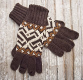 Warme Winter-Handschuhe Stockbild