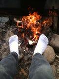 Warme Zehen Stockfoto